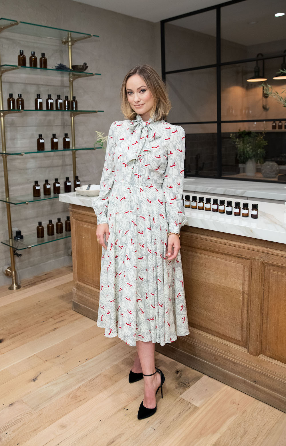 Olivia Wilde at the True Botanicals opening party