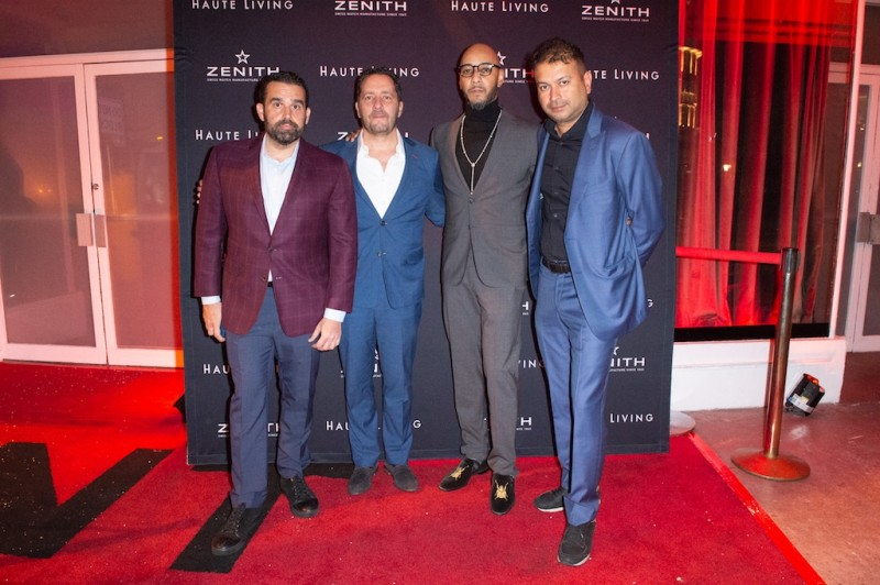 Seth Semilof, Julien Tornare, Swizz Beatz and Kamal Hotchandani