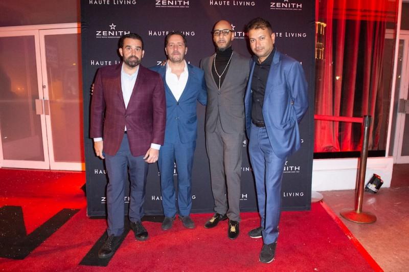 Seth Semilof, Julien Tornare, Swizz Beatz and Kamal Hotchandani
