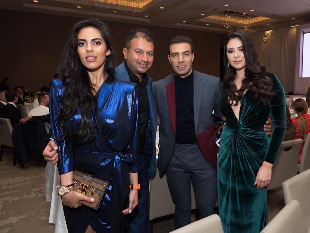 Deyvanshi Masrani, Kamal Hotchandani, Jencarlos Canela, guest