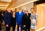 Larry Ruvo, co-founder of Keep Memory Alive, Gloria Estefan, Andrea Bocelli, Emilio Estefan and Veronica Bocelli