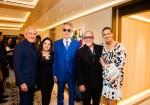 Larry Ruvo, co-founder of Keep Memory Alive, Gloria Estefan, Andrea Bocelli, Emilio Estefan and Veronica Bocelli
