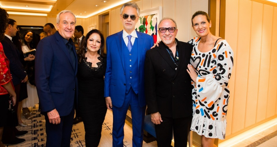 Andrea Bocelli's Private Performance For Up Close & Personal Event Co-Hosted By Gloria & Emilio Estefan Benefitting Cleveland Clinic