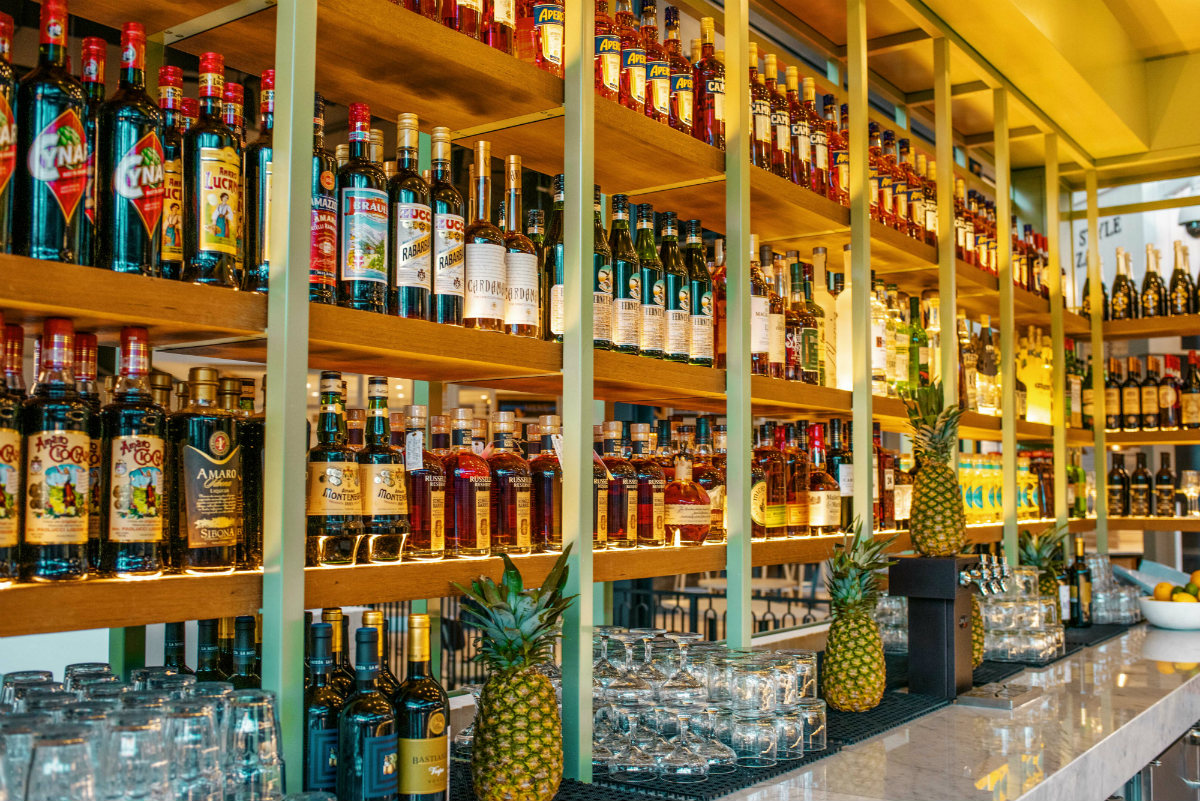 Eataly Las Vegas has three bars with classic Italian cocktails, wine and spirits.