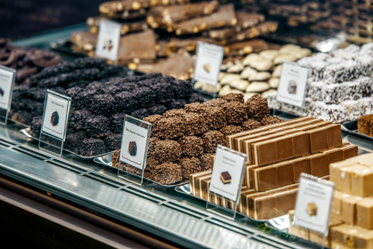 Chocolates at Eataly's Venchi Counter.