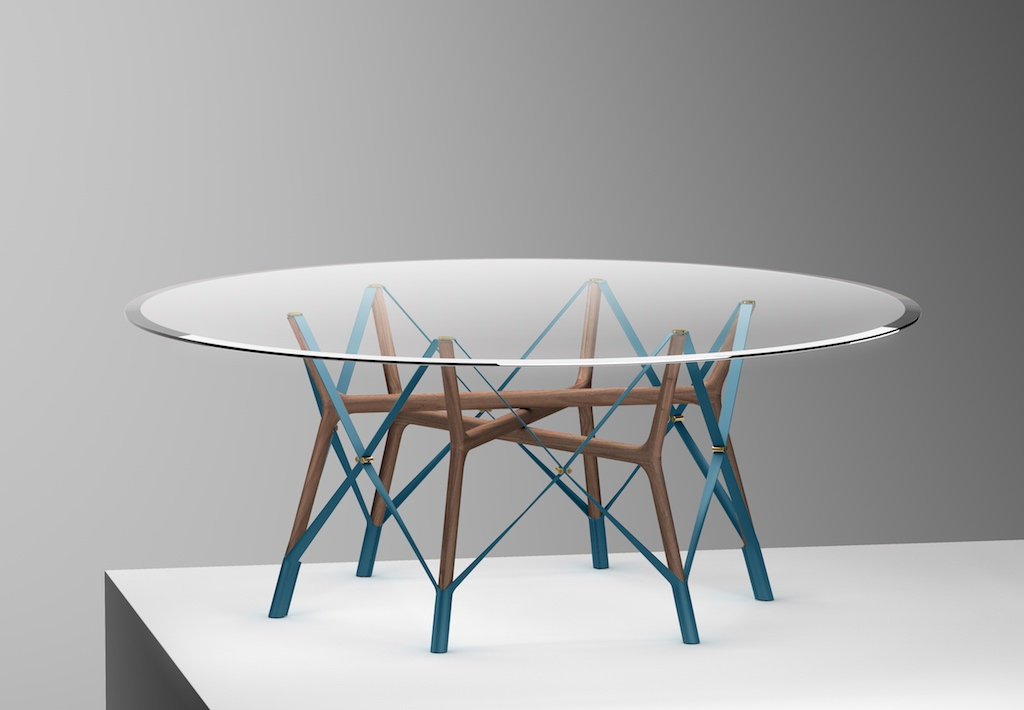 Serpentine Table by