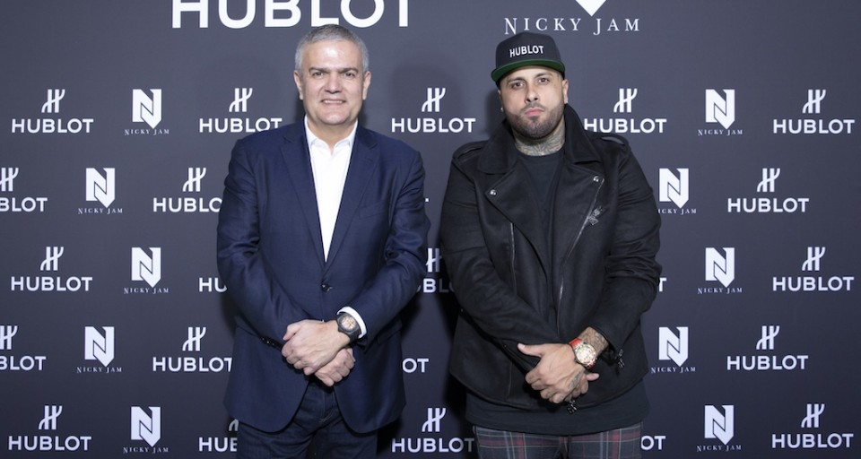 Hublot Launches Big Bang Meca-10 Nicky Jam Watch With Reggaeton Superstar During Art Basel Miami Beach