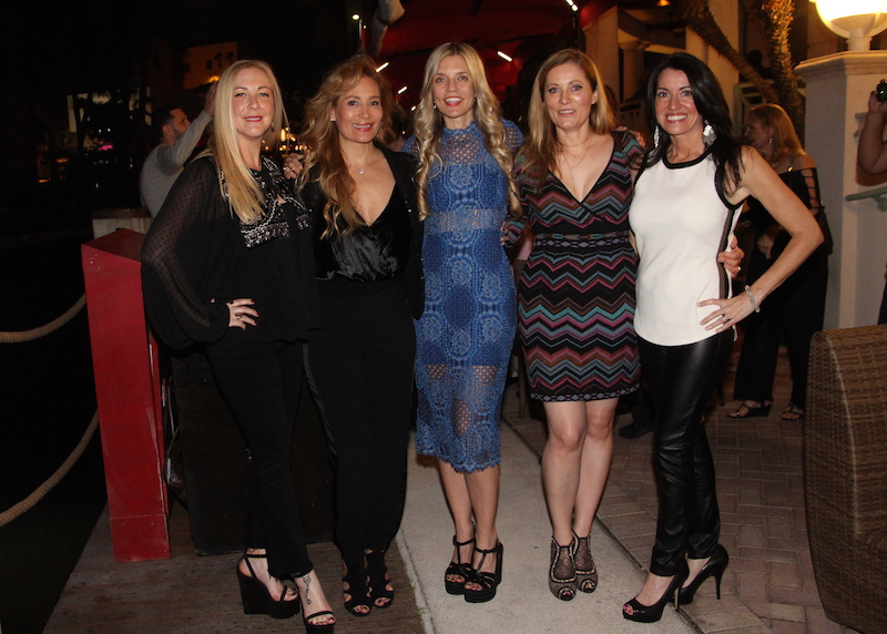 Angela Birdman, Patricia Lara, Dana Rhoden, Inga Miller and Nicole Berger at the exclusive grand opening of Casa Sensei on Friday, November 30th.