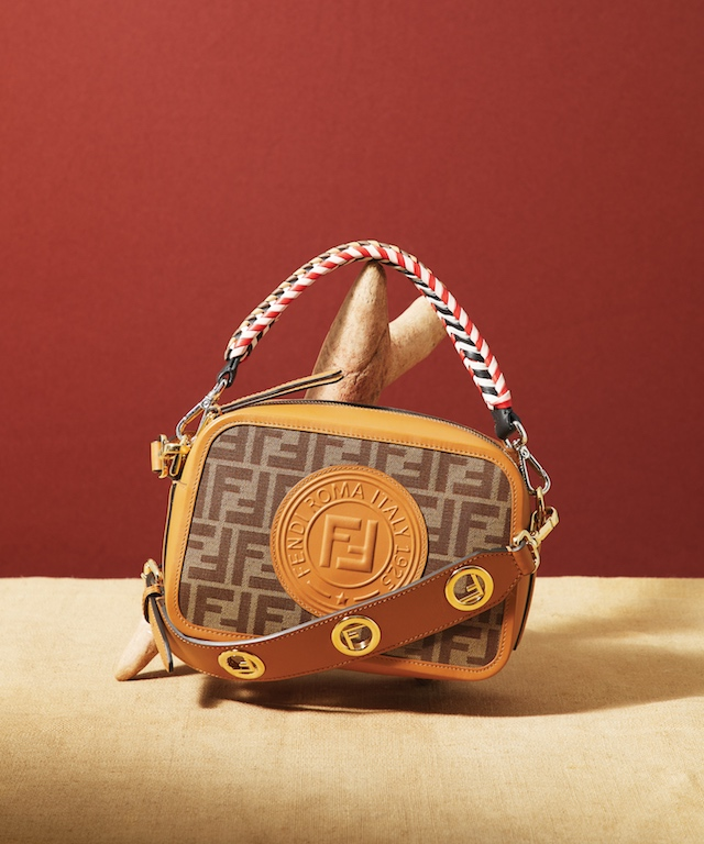 Yellow FF Leather Camera Bag, $1,490