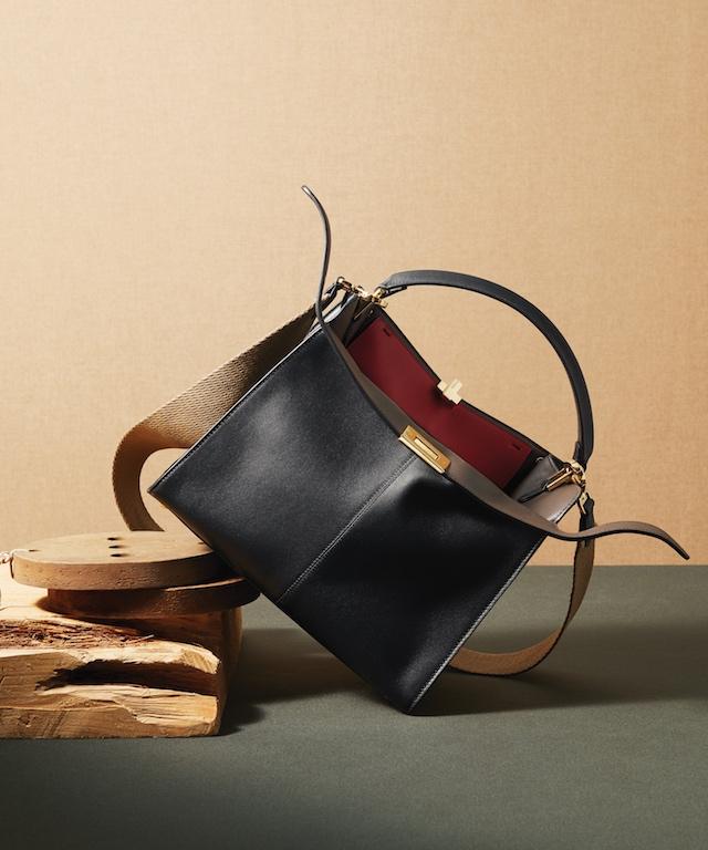 Black Leather Peekaboo X-Lite Handbag, $3,980