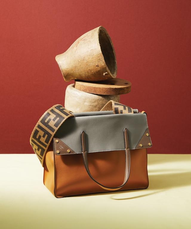 Yellow Leather Fendi Flip Small Handbag, $2,390