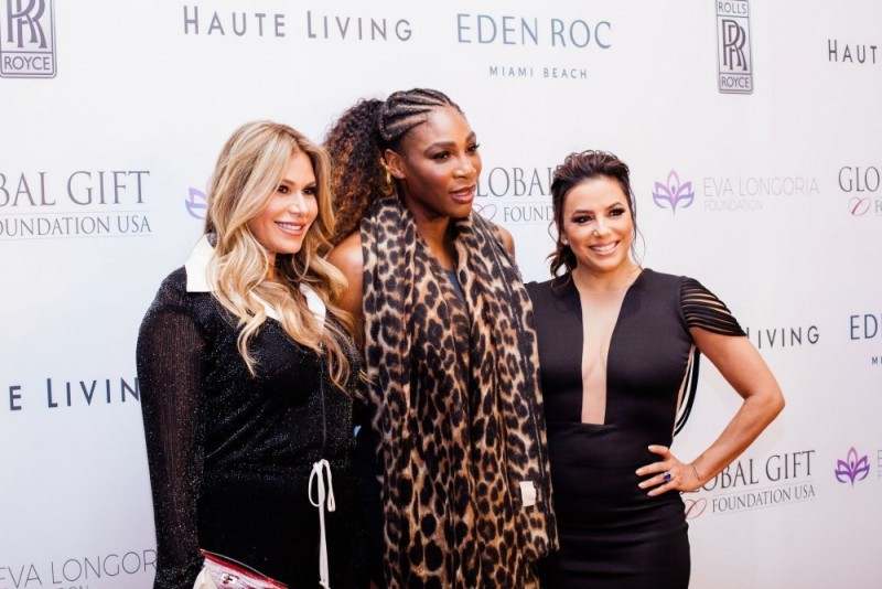 Loren Ridinger, Serena Williams and Eva Longoria Bastón