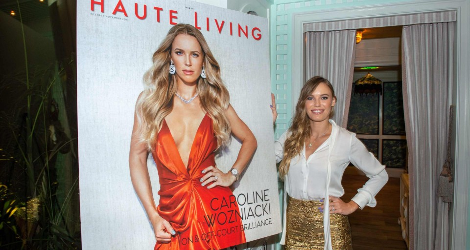 Haute Living Celebrates Caroline Wozniacki With LOUIS XIII At Swan Miami