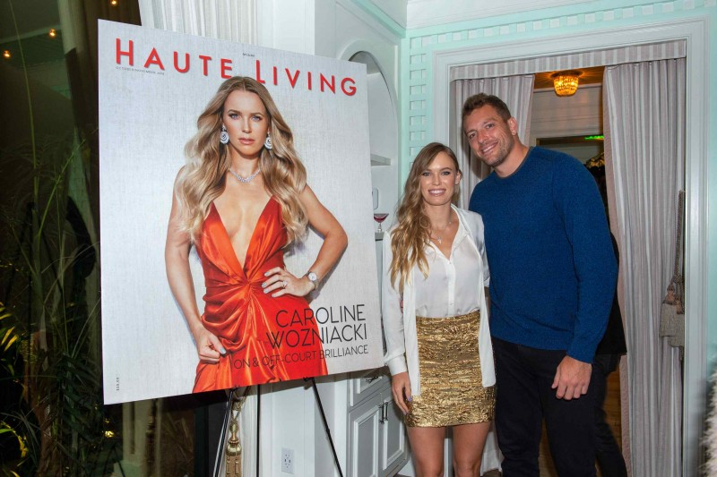 Caroline Wozniacki and David Lee