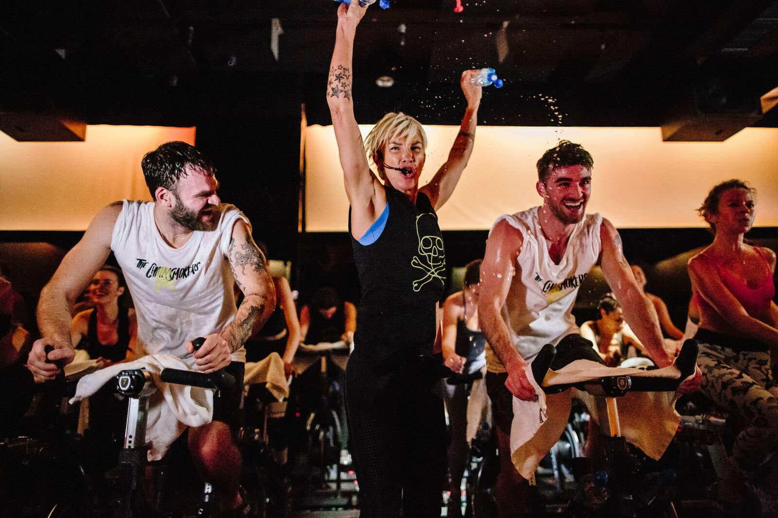 The Chainsmokers at SoulCycle
