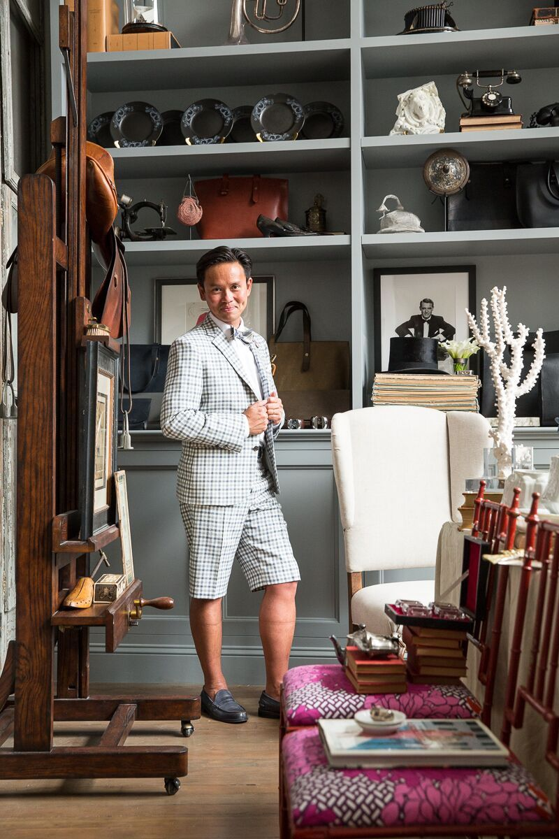 Jonathan Rachman poses in his store