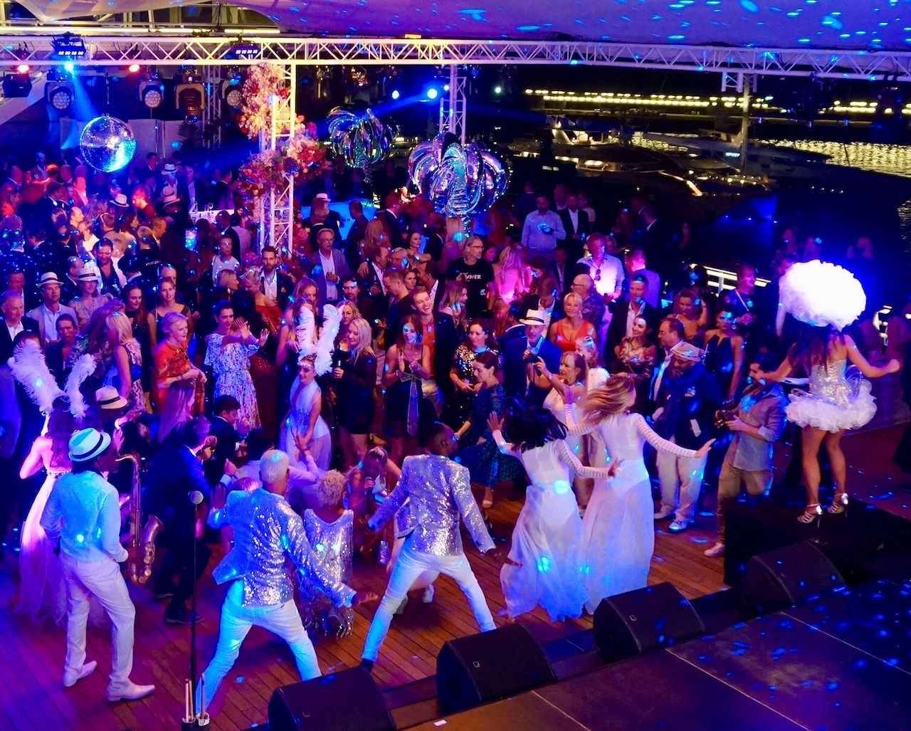 The Lürssen party at the Monaco Yacht Club