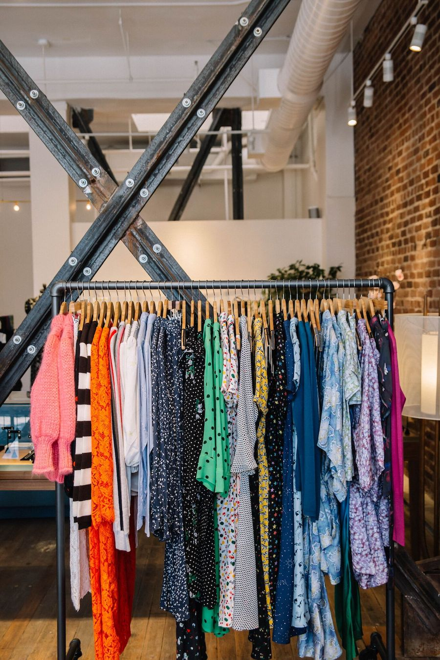 Racks of clothes at Hero Shop
