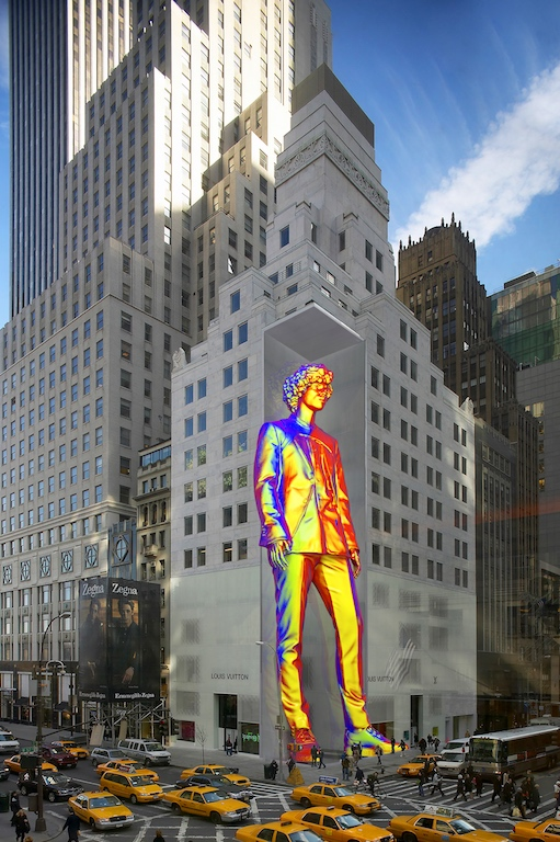 Louis Vuitton Debuts New Virgil Abloh Rainbow Windows In Ny