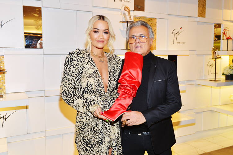 d29e82fadce Rita Ora   Giuseppe Zanotti On How Their Shoe Collaboration Is Hitting All  The Right Notes. Celebrities ...