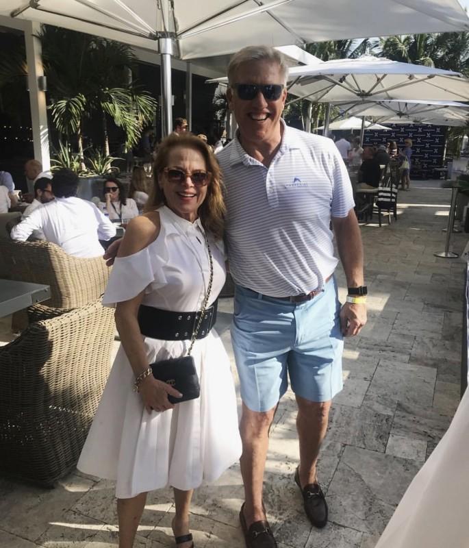 Jill Eber and John Elway
