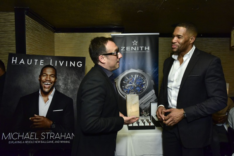 Haute Living Celebrates Michael Strahan With Zenith Watches At Philippe Downtown