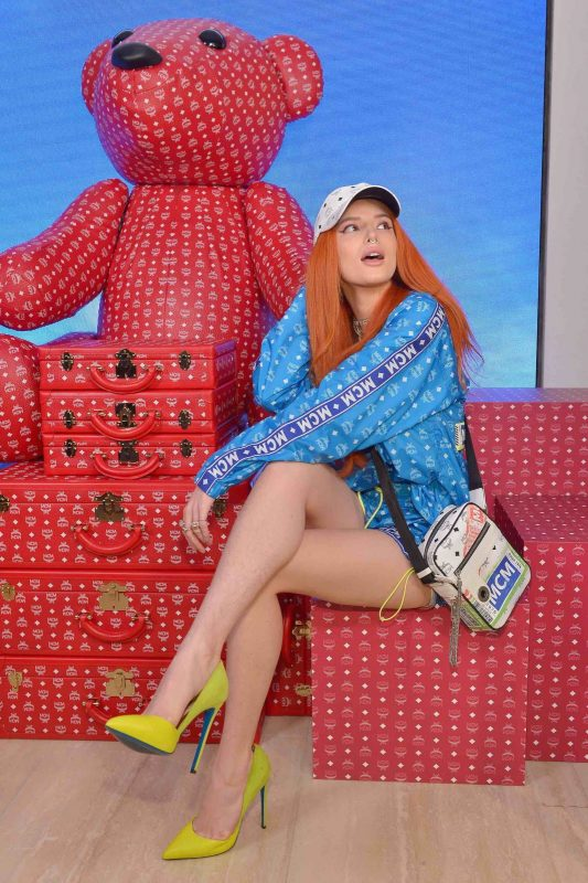 Bella Thorne attends the grand opening of the MCM Global Flagship Location in Beverly Hills - Photo by Donato Sardella, Getty Images for MCM