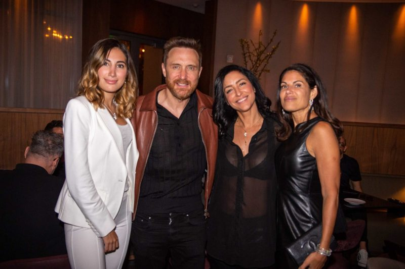 Candace Brody, David Guetta, Violet Camacho and Missy Brody