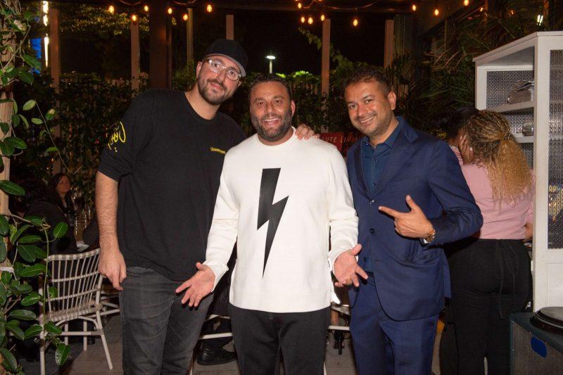 Jon Chetrit, David Grutman and Kamal Hotchandani