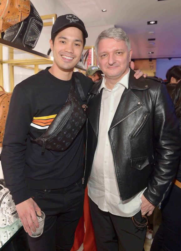 Ross Butler and MCM Global Chief Creative Officer Dirk Schonberger