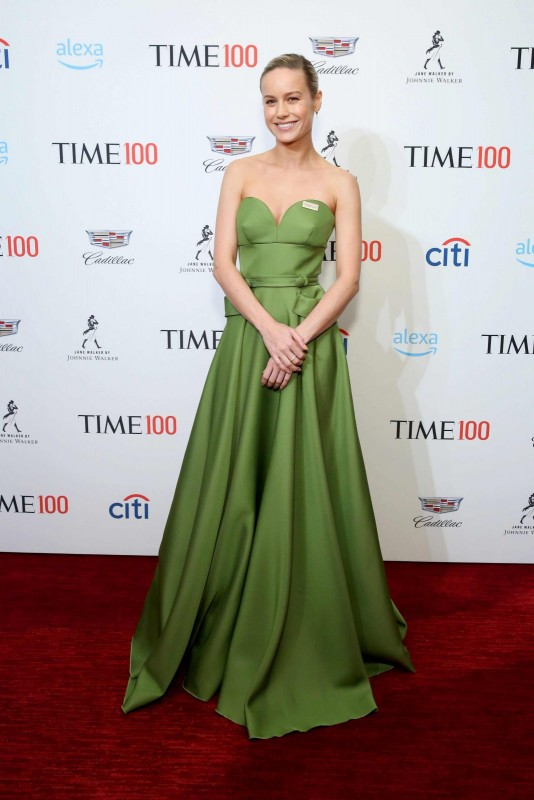 Brie Larson at the TIME 100 gala with Jane Walker by Johnnie Walker specialty cocktails