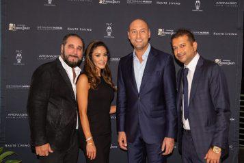 Louis Birdman, Farah Abassi, Derek Jeter and Kamal Hotchandani