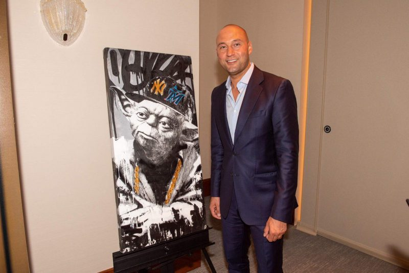Derek Jeter with Yoda by BNS