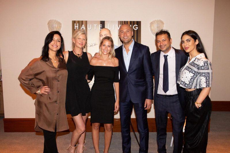 Violet Camacho, April Donelson, Paige Mastrandrea, Derek Jeter, Kamal Hotchandani and Deyvanshi Masrani