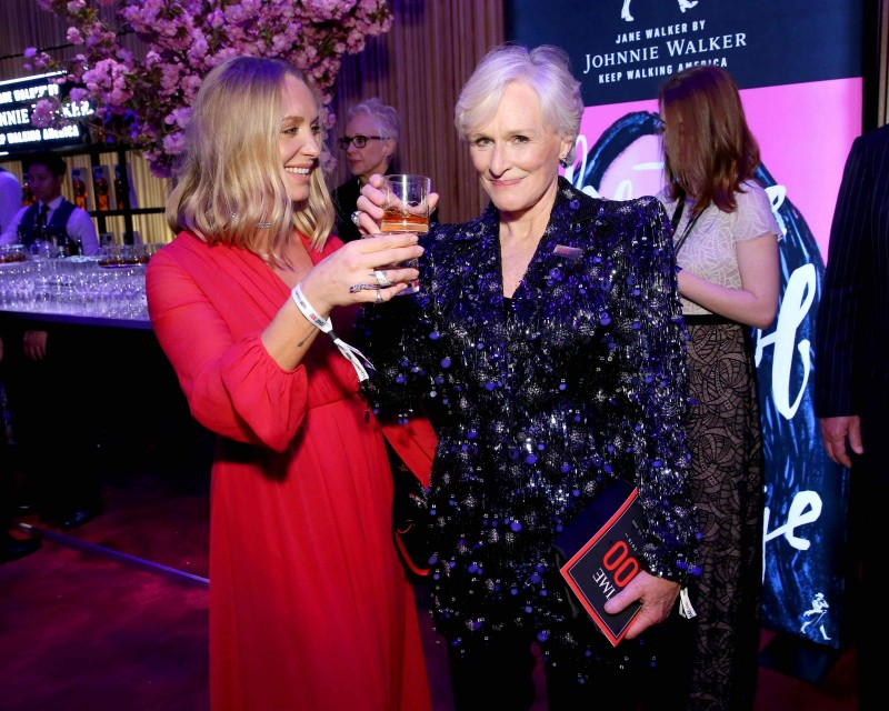Glenn Close and daughter Annie Starke toast to an amazing TIME 100 gala with Jane Walker by Johnnie Walker