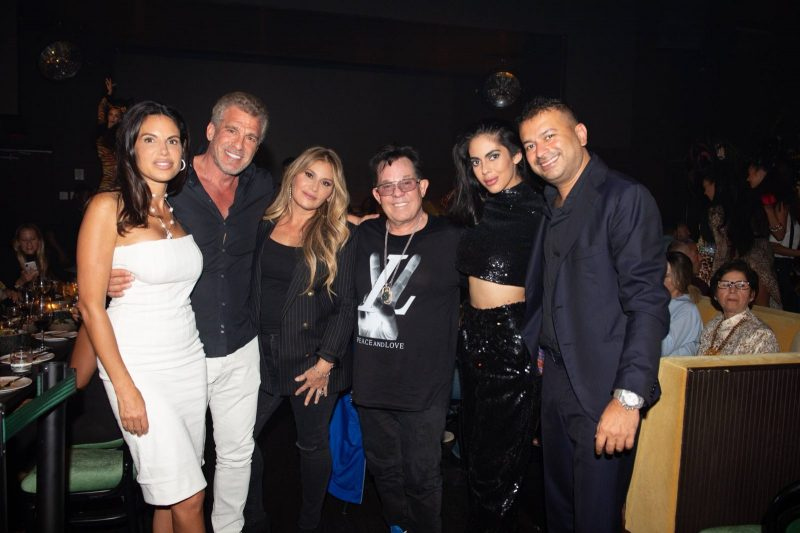 Missy Brody, Barry Skolnick, Loren and JR Ridinger, Deyvanshi Masrani and Kamal Hotchandani