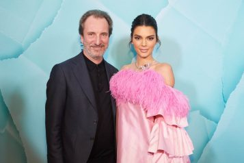 Kendall Jenner and Tiffany CEO Alessandro Bogliolo