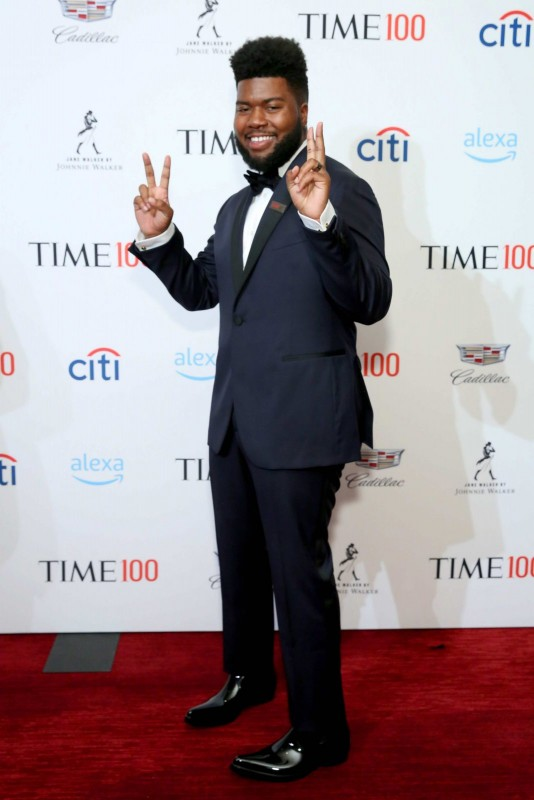 Khalid at the TIME 100 gala with specialty Jane Walker by Johnnie Walker cocktails