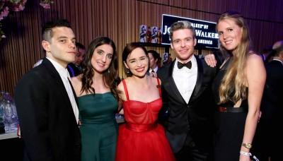 Rami Malek, Emilia Clarke, Richard Madden and friends celebrate the TIME 100 Gala at the Jane Walker by Johnnie Walker bar