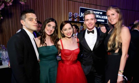 Rami Malek, Emilia Clarke, Richard Madden and friends celebrate the TIME 100 Gala at the Jane Walker by Johnnie Walker bar