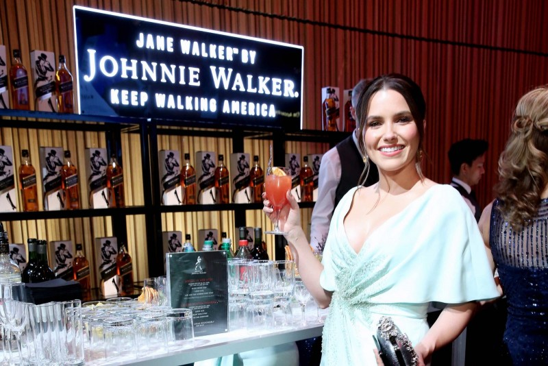 Sophia Bush enjoys a specialty Jane Walker by Johnnie Walker cocktail at the TIME 100 Gala