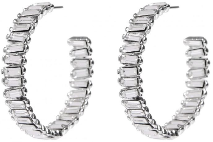 Baby Serena Hoops in Rhodium