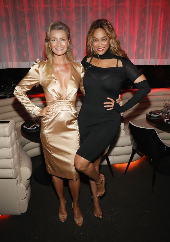 Paulina Porizkova and Tyra Banks