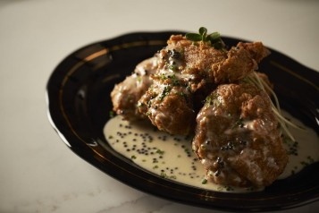 Fried Chicken with Caviar Butter