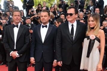 shutterstock_1Bradd Pitt, Leonardo DiCaprio, Quentin Tarantino and Margot Robbie403768621