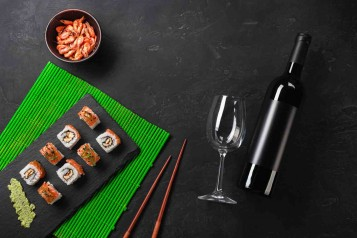 Wine and sushi