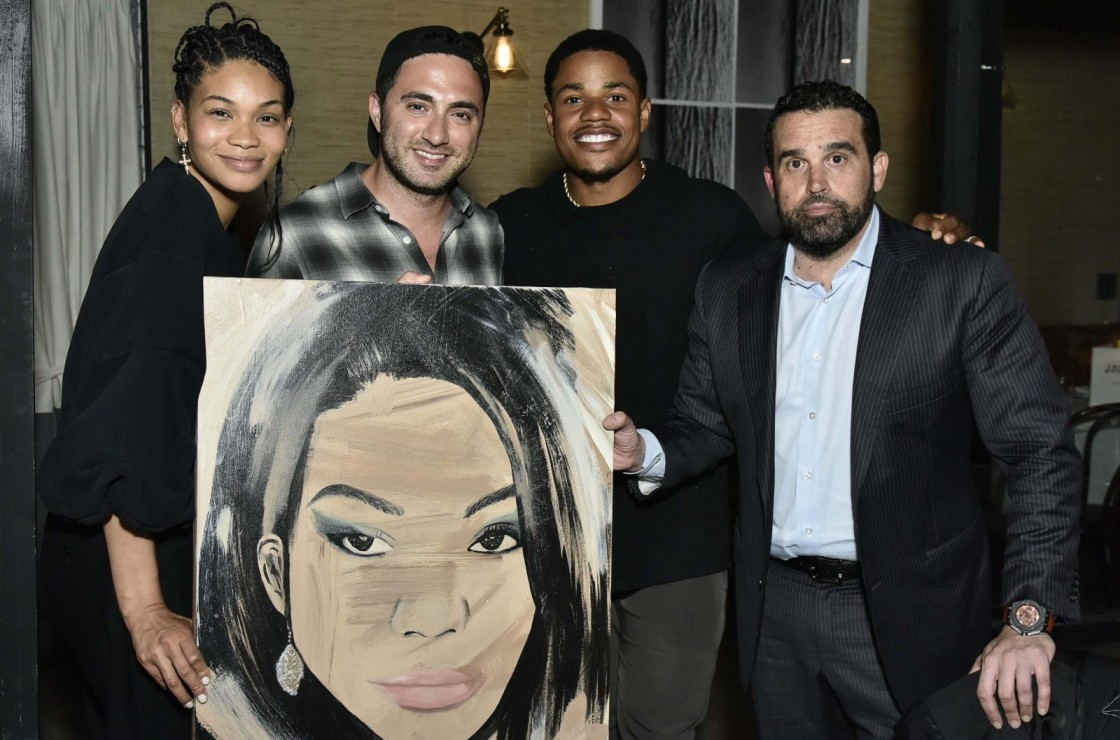 Chanel Iman, Jojo Anavim, Sterling Shepard and Seth Semilof