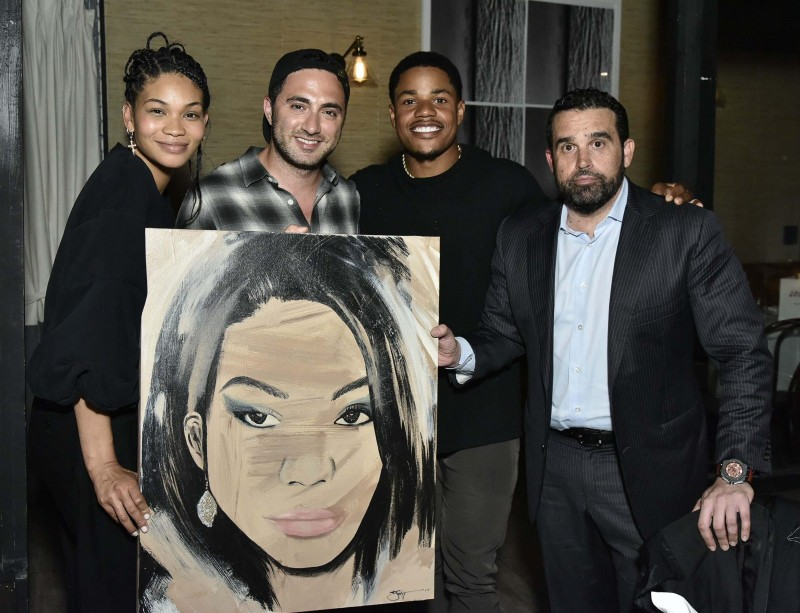 Chanel Iman, Jojo Anavim, Sterling Shepard and Seth Semilof