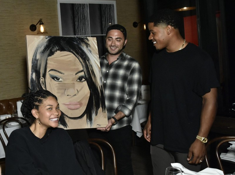 Chanel Iman, Jojo Anavim and Sterling Shepard