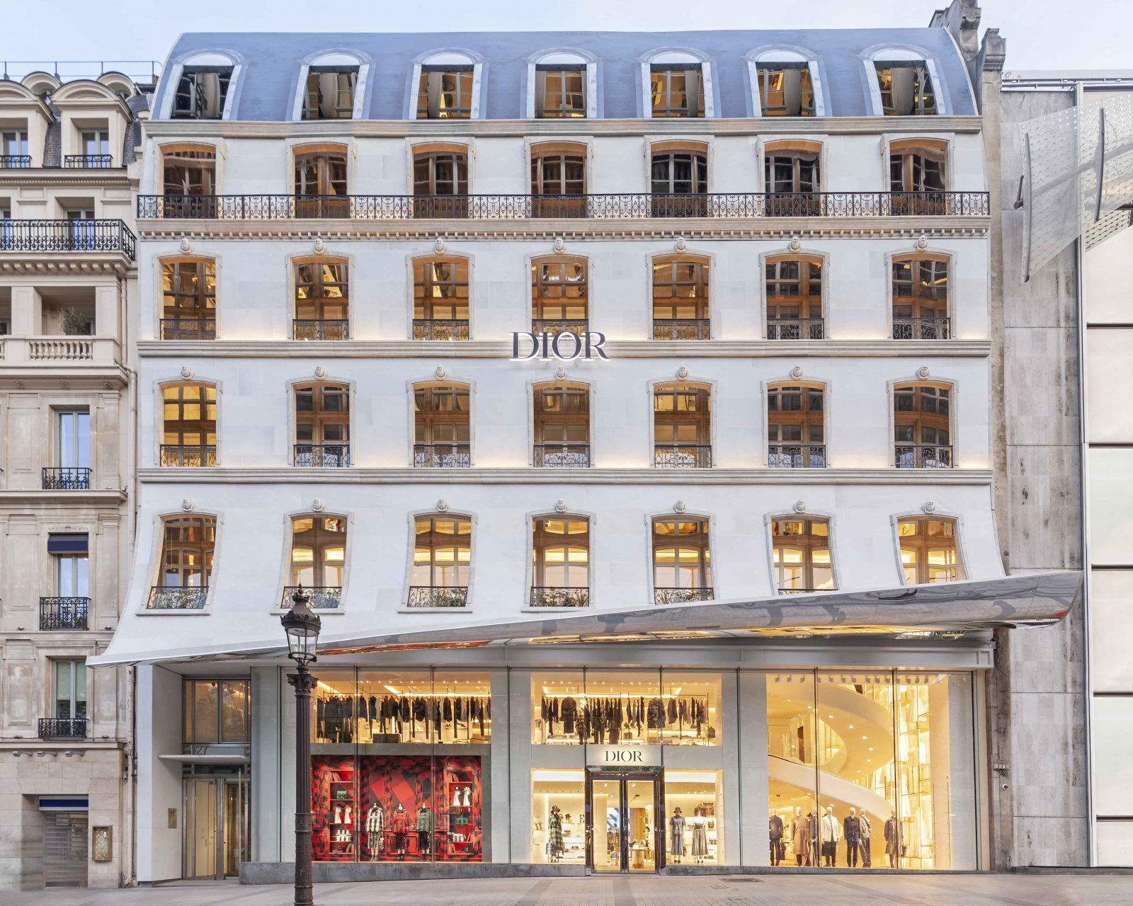 Dior Opens New Boutique In Paris At Champs-Elysees